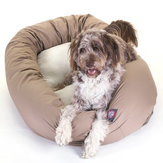 Majestic Pet Bagel-style Khaki 52-inch Dog Bed