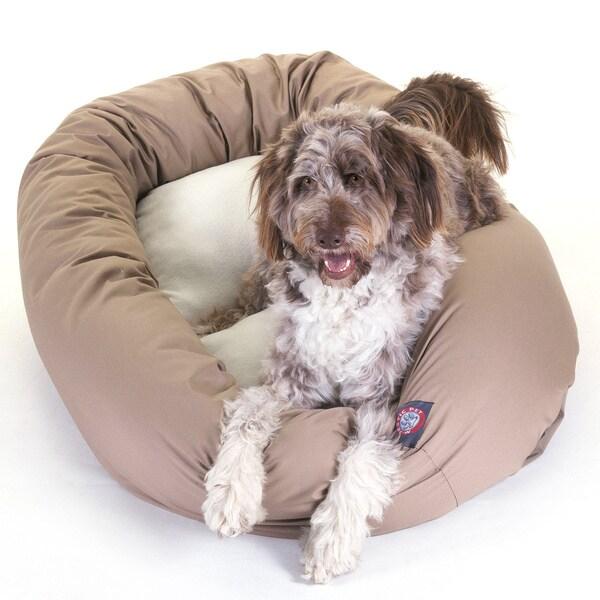 Majestic Pet Bagel-style Khaki 52-inch Dog Bed