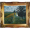 Claude Monet 'Walking Near Argenteuil' Framed Art