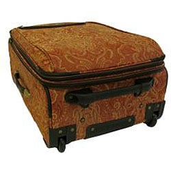 American Flyer Gold Paisley 4-piece Luggage Set