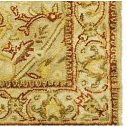Safavieh Handmade Mahal Light Brown/ Beige N.Z. Wool Runner (2'6 x 10')