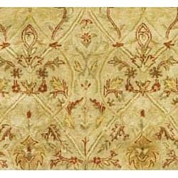 Safavieh Handmade Mahal Light Brown/ Beige N.Z. Wool Runner (2'6 x 12')