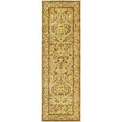 Safavieh Handmade Mahal Light Brown/ Beige N.Z. Wool Runner (2'6 x 14')