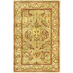 Safavieh Handmade Mahal Light Brown/ Beige N.Z. Wool Runner (2'6 x 4')