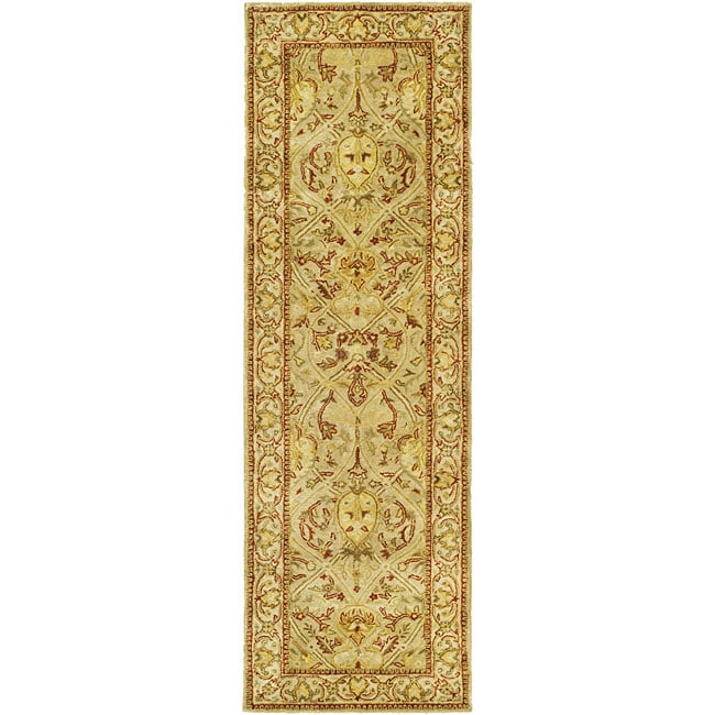 Safavieh Handmade Mahal Light Brown/ Beige N.Z. Wool Runner (2'6 x 8')