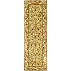 Safavieh Handmade Mahal Light Brown/ Beige N.Z. Wool Runner (2'6 x 8')