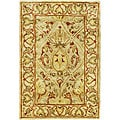 Handmade Mahal Light Brown/ Beige New Zealand Wool Rug (3' x 5')