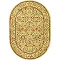 Safavieh Handmade Mahal Light Brown/ Beige N.Z. Wool Rug (4'6 x 6'6 Oval)
