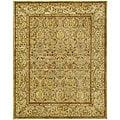 Handmade Mahal Light Brown/ Beige N.Z. Wool Rug (8'3 x 11')