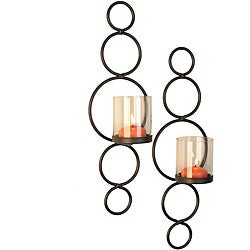 Circles Candle Sconce (Set of 2)