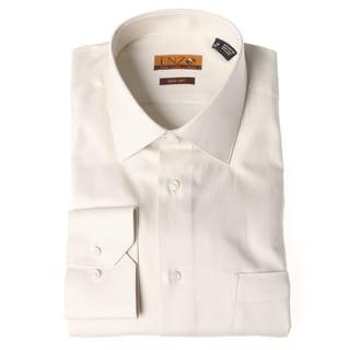Men's Beige Twill Dress Shirt