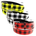H2W Brand Unisex Plaid Faux Leather Belt