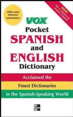 Vox Pocket Spanish and English Dictionary (Paperback)