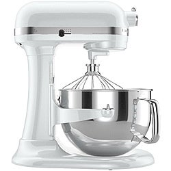 KitchenAid KP26M1XWH White 6-quart Pro 600 Bowl-Lift Stand Mixer *plus Overstock $30 gift card and $50 KitchenAid mail-in rebate