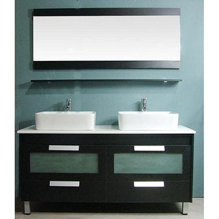 Design Element Parliament Double-sink Modern Bathroom Vanity Set ...