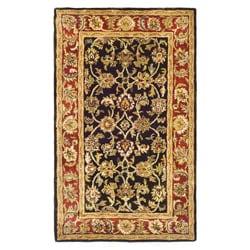Safavieh Handmade Classic Dark Olive/ Red Wool Rug (2'3 x 4')
