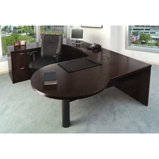 Mayline Mira Wood Veneer 4-piece Workstation