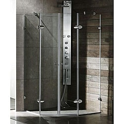 Vigo Neo-angle Frameless Tempered Glass Shower Enclosure