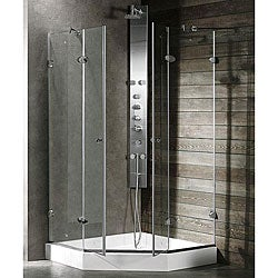 Vigo Neo-angle Frameless Glass Shower Enclosure/ Base