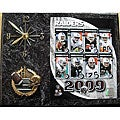 Oakland Raiders Team Picture Plaque Clock