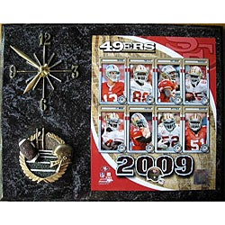 San Francisco 49ers Team Picture Plaque Clock