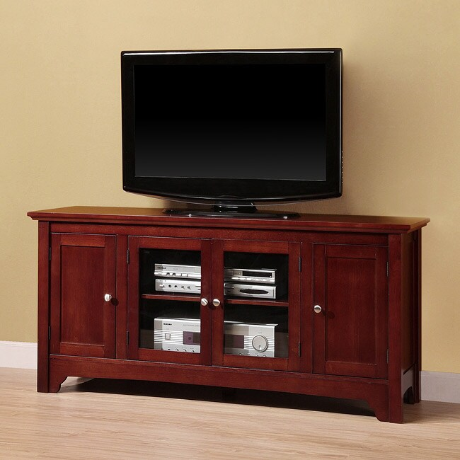 Brown Wood 53-inch TV Stand - Overstock Shopping - Great Deals on ...