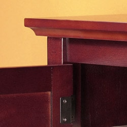 Brown Wood 53-inch TV Stand