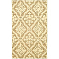 Hand-hooked Lexington Ivory/ Cream Runner (2'6 x 10')