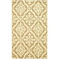Hand-hooked Lexington Ivory/ Cream Polypropylene Rug (3' x 5')