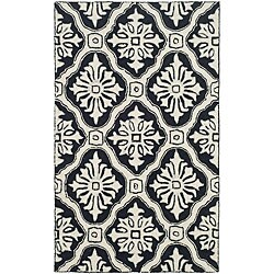 Safavieh Hand-hooked Lexington Ivory/ Black Polypropylene Rug (2' x 3')