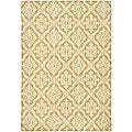 Hand-hooked Lexington Ivory/ Cream Polypropylene Rug (4' x 6')