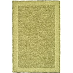 Hand-hooked Gabeh Green Polypropylene Rug (3' x 5')