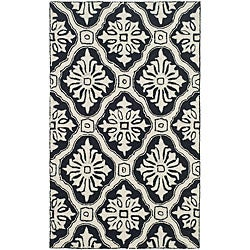 Safavieh Hand-hooked Lexington Ivory/ Black Polypropylene Rug (3' x 5')