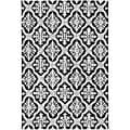 Hand-hooked Lexington Ivory/ Black Polypropylene Rug (4' x 6')