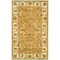 Safavieh Handmade Heritage Tabriz Mocha/ Ivory Wool Rug (3' x 5')