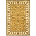 Handmade Heritage Tabriz Mocha/ Ivory Wool Rug (4&#39; x 6&#39;)