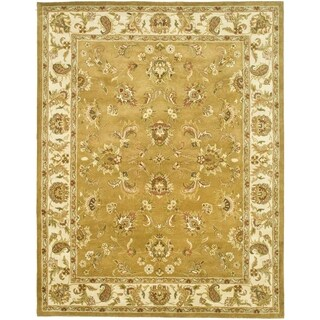 Safavieh Handmade Heritage Tabriz Mocha/ Ivory Wool Rug (9'6 x 13'6)