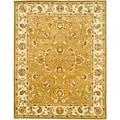 Handmade Heritage Tabriz Mocha/ Ivory Wool Rug (9'6 x 13'6)