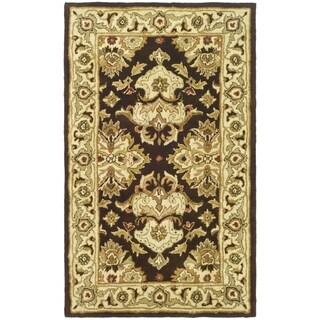 Safavieh Handmade Heritage Traditions Black/ Ivory Wool Rug (3' x 5')