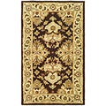 Handmade Heritage Traditions Black/ Ivory Wool Rug (3' x 5')