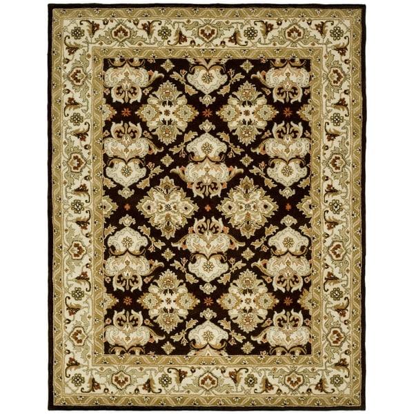 Safavieh Handmade Heritage Traditions Dark Mocha/ Ivory Wool Rug (4' x 6')