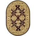 Safavieh Handmade Traditions Dark Mocha/ Ivory Wool Rug (7'6 x 9'6 Oval)