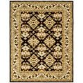 Handmade Traditions Dark Mocha/ Ivory Wool Rug (7'6 x 9'6)