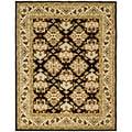 Handmade Traditions Dark Mocha/ Ivory Wool Rug (8'3 x 11')