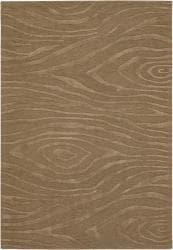 Hand-tufted Mandarae Brown Wool Rug (7'9 x 10'6)