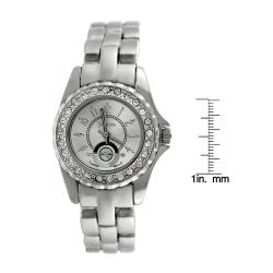 Geneva Women's Platinum Rhinestone Watch