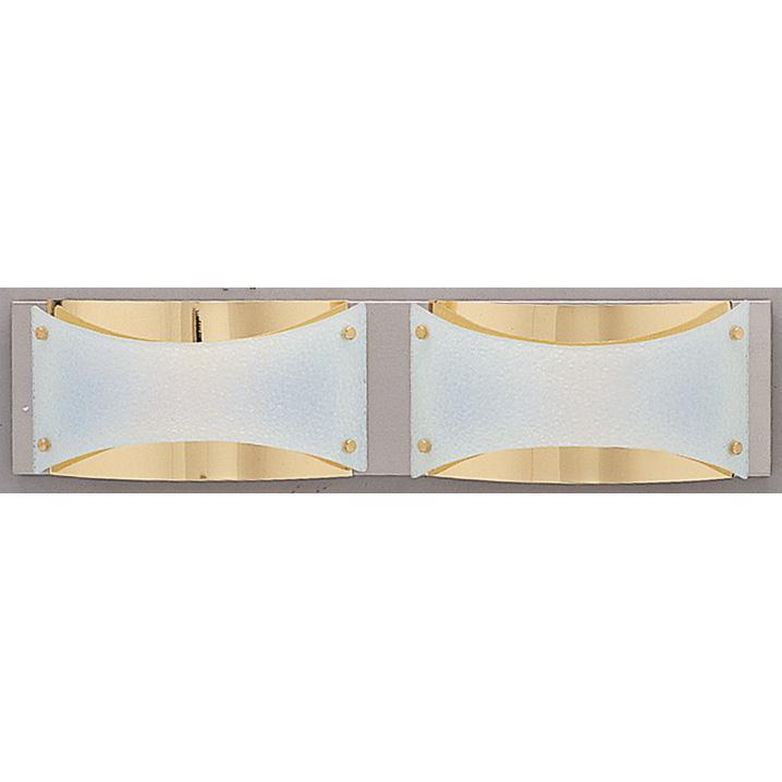 Neo Halogen 2-light Brass Bath Fixture