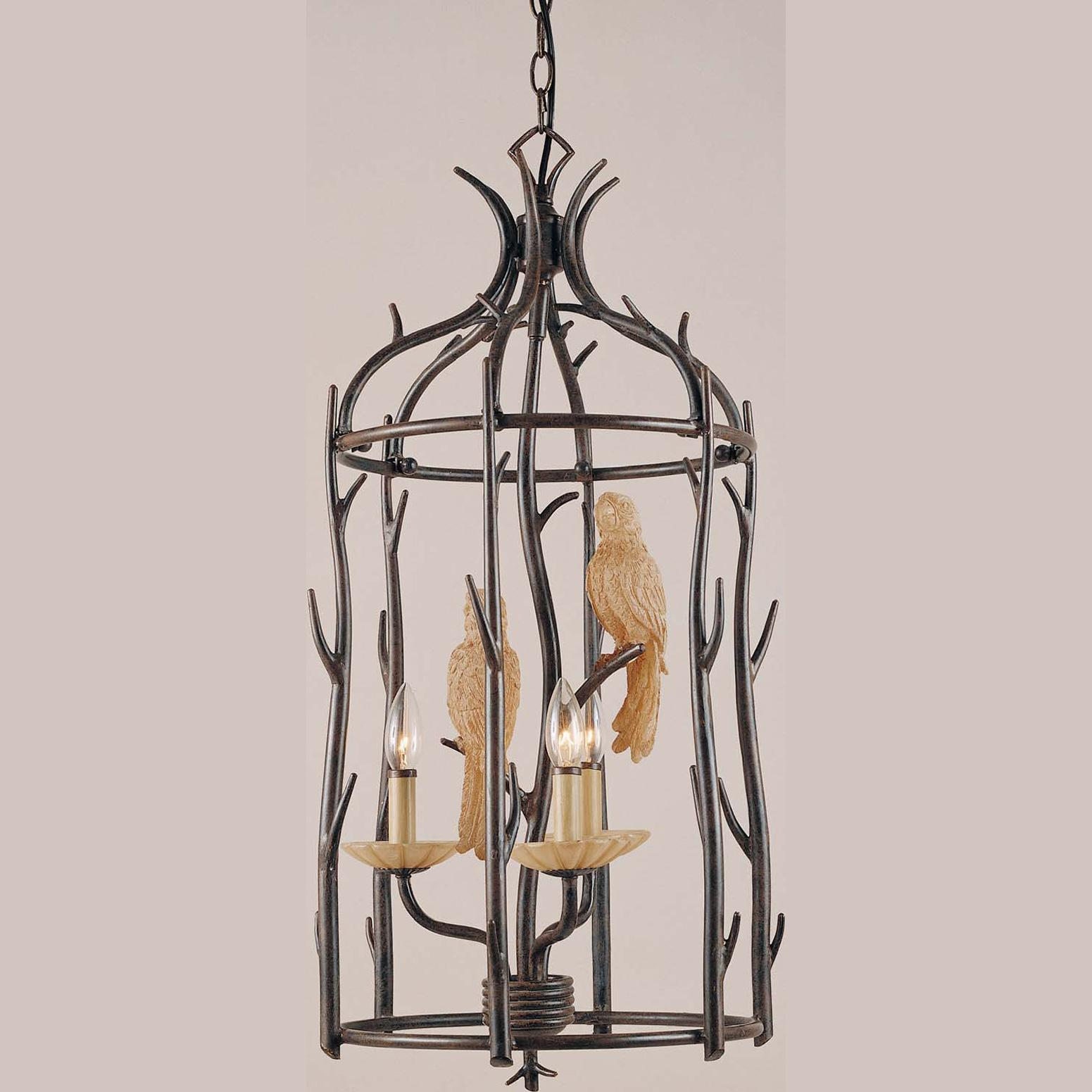 Aviary 3-light Aged Driftwood Chandelier