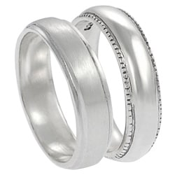 Tressa Sterling Silver Satin Finish Ring Set