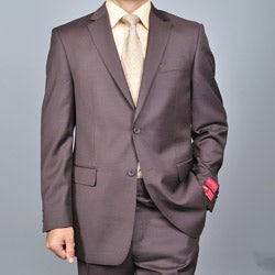 Men's Brown Two-button Wool Suit